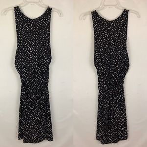 Ann Taylor Black Polka Dot Sheath Dress Size 4